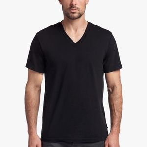 JAMES PERSE Black V-Neck Short Sleeve Tee Size 4